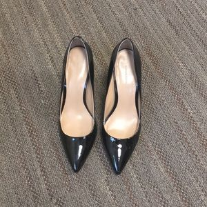 Patent leather stakes heels